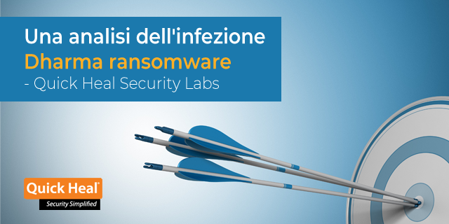Una analisi dell'infezione Dharma ransomware - Quick Heal Security Labs